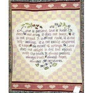 Love Is Patient, Love Is Kind Classic Afghan Throw