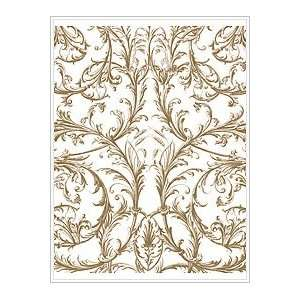 Plaid Anna Griffin Wood Mounted Stamp, Espalier Background