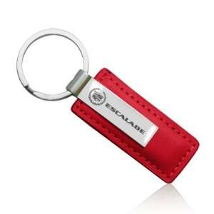 Cadillac Escalade Red Leather Key Chain Automotive