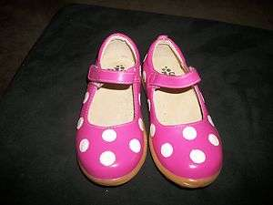 JUMPER SHOES SIZE 11 HOT PINK W/ WHITE POLKA DOTS BOUTIQUE