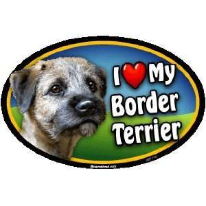 Oval Car Magnet   I Love My Border Terrier Kitchen