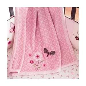 Carters By Kidsline Butterfly Flowers Boa Blanket Baby