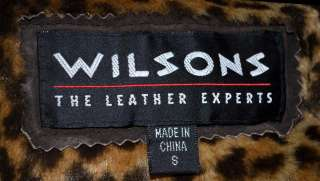 Wilson Dark Brown Suede Leather & Faux Leopard Lined Womans Short