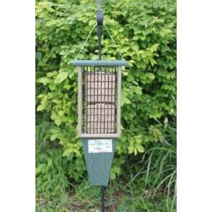 Double Suet Bird Feeder   Recycled, w/Tail Prop, for Woodpeckers