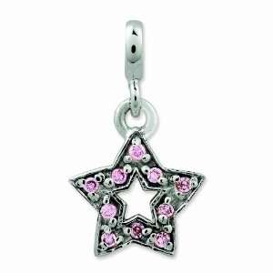 Sterling Silver Pink Cz Star Enhancer Jewelry