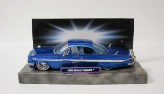 Impala Diecast Model Car   Jada / Street Low 124   Scale Blue