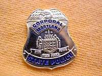 MARYLAND STATE POLICE TROOPER CORPORAL PROUD GOLD EAGLE MINI BADGE