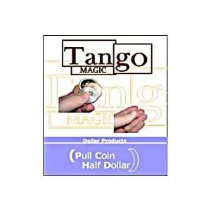 Pull Coin Half Dollar Tango Visable Money Magic Trick