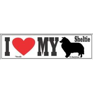 I Love My Sheltie Bumper Sticker Automotive