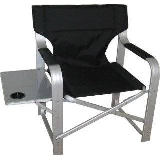 Heavy Duty Directors Chair with Side Table + Cupholder CH 1601/BLACK