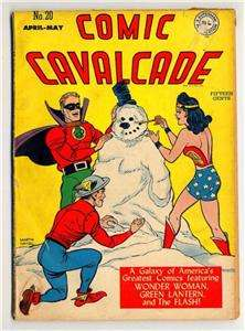 1947 Comic Cavalcade #20 Green Lantern , Flash DC Comic
