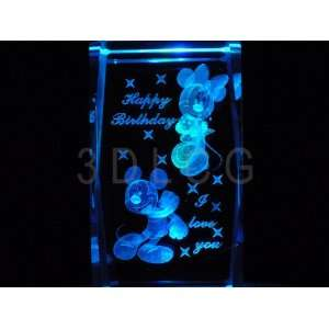 Disney Mickey & Minnie Mouse Happy Birthday 3D Laser