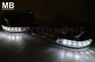 05 09 Ford Mustang Polished Chrome Mirror Cover with LED Signal Light