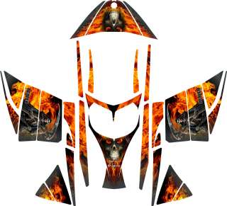 GRIM REAPER SLED WRAP for SKI DOO REV mxz decal graphic