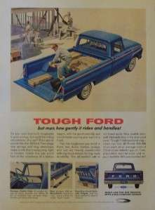 1964 Ford Custom Cab Pick Up Truck Print Ad
