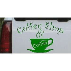 Coffee Shop Cup Business Car Window Wall Laptop Decal Sticker    Dark