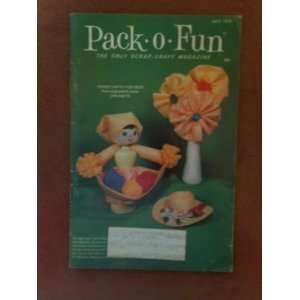 Pack O Fun Scrap Craft Magazine May 1975 Old Fashioned