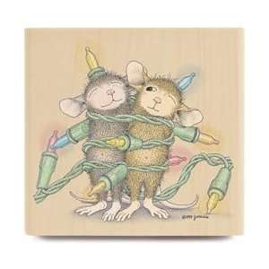 New   House Mouse Mounted Rubber Stamp   Light Wrap by