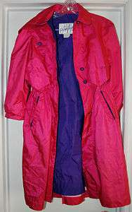 ROTHSCHILD GIRLS COAT RAIN JACKET SIZE 10 EUC PINK PURPLE TRENCH