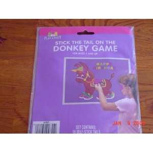 Birthday Stick the Tail on the Donkey Game, 16 Tails Toys & Games