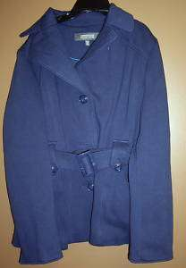 Kenneth Cole Reaction Coat Women Sz X  large Blue