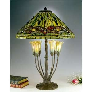 Dale Tiffany Green Dragonfly Favrile Tiffany Lamp