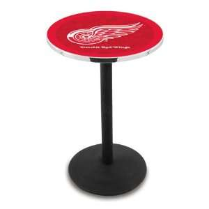 36 Detroit Red Wings Counter Height Pub Table   Round