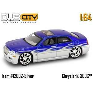 Dub City Blue & Silver Chrysler 300C 164 Scale Die Cast Car Toys