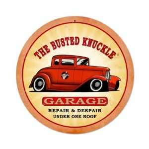 Busted Knuckle Garage Vintage Metal Sign Hot Rod Repair