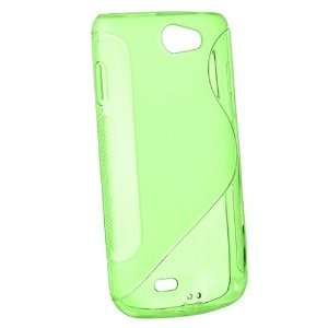 Frost Green S Shape TPU Rubber Skin Case + Clear Reusable