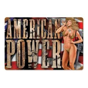 American Power Metal Sign