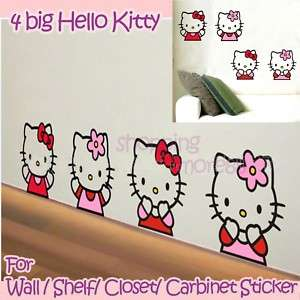 Hello Kitty big Cute Wall Sticker Home Decor pink jj16