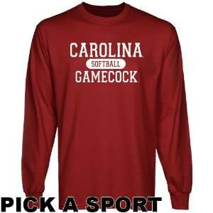 South Carolina Gamecocks Custom Sport Long Sleeve T shirt   Garnet