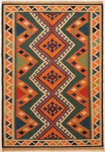 Large Area Rugs Flat  Woven Persian Kilim 6 x 9