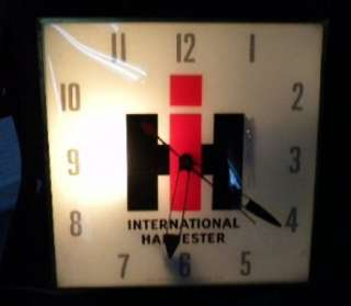 Old International Harvester IH Tractor Farm Feed Seed PAM Clock