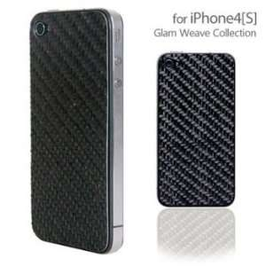 Patchworks Natural Carbon Fiber Style Silk and Hemp Sticker for iPhone