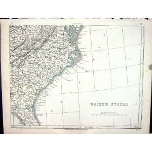 Lowry Antique Map 1853 United States America North