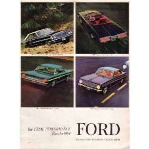 1964 FORD Sales Brochure Literature Book Piece Automotive