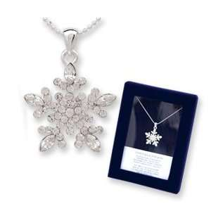 Snowflake Necklace Holiday Christmas GIFT BOXED