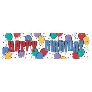 Happy Birthday Balloon Giant Sign Banner