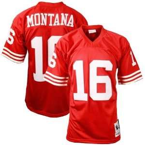 Mitchell & Ness San Francisco 49ers #16 Joe Montana Red