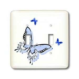 Patricia Sanders Creations   Blue Butterfly Trio Art Nature Designs