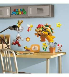 Super Mario Bros Peel And Stick 675SCS Wall Decal Set *New*