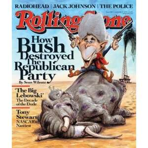Bush (illustration), 2008 Rolling Stone Cover Poster by Victor