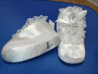 Baby Girls White Christening Baptism Shoes/207/ Size 1