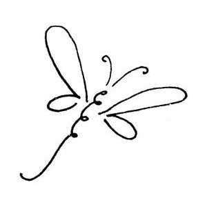 Penny Black Rubber Stamp 1.5X1.5 Scroll Dragonfly; 3