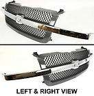 New Grille Assembly Chrome center bar smooth black insert Chevy