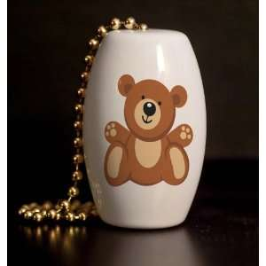 Loving Teddy Bear Porcelain Fan / Light Pull