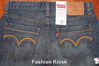 New Levis 527 IMPACT 0020 Straight Boot Cut Jeans 28 29 30