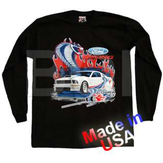 2008 Ford Racing Cobra Jet Snake Mustang Long Sleeve Black Cotton